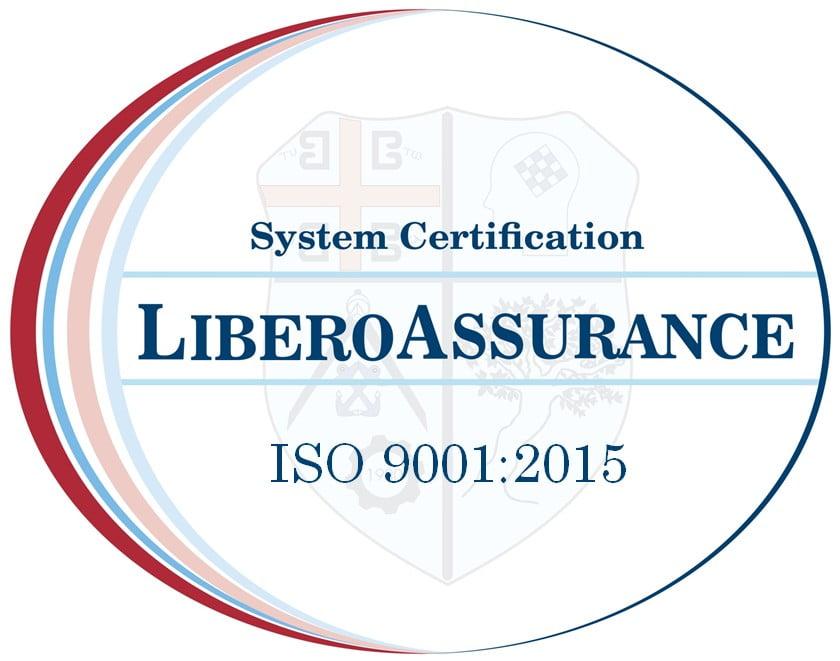 ISO 9001 2015 LIBERO ASSURANCE MARK